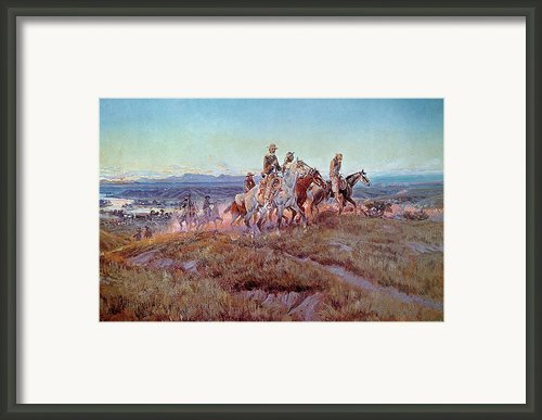 Riders Of The Open Range Framed Print By Charles Marion Russell