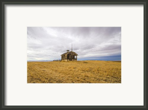 Ridge Top School Framed Print By Jean Noren