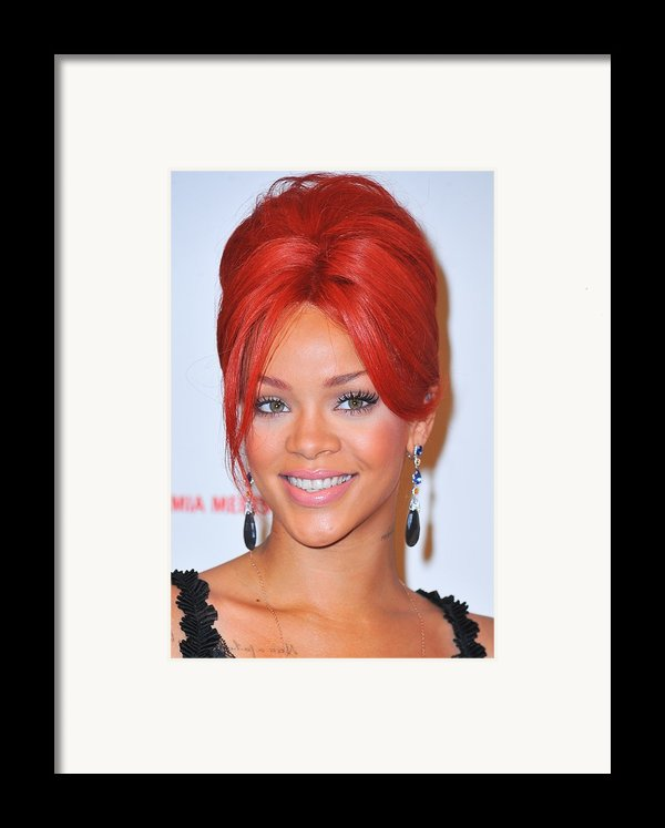 Rihanna At A Public Appearance For Dkms Framed Print By Everett
