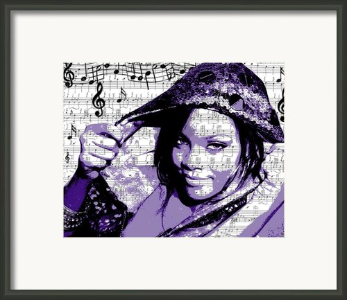 Rihanna Framed Print By Brad Scott