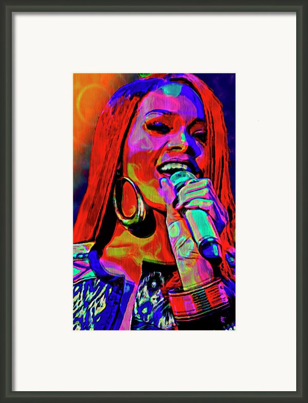 Rihanna  Framed Print By Byron Fli Walker