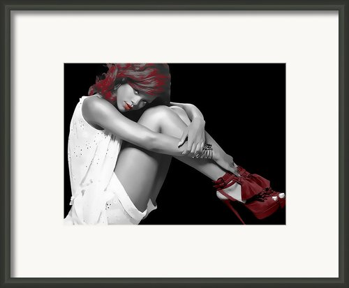 Rihanna Simple By Gbs Framed Print By Anibal Diaz