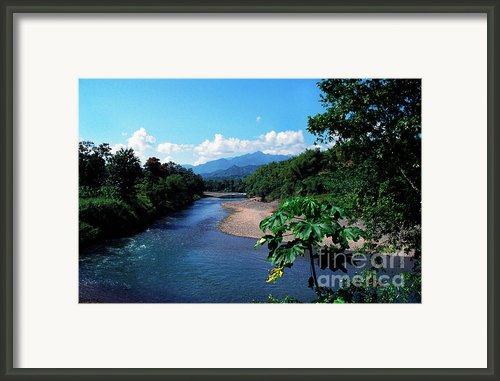 Rio Grande And Blue Mountain Framed Print By Thomas R Fletcher
