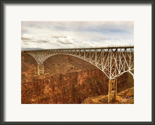 Rio Grande Gorge Bridge Framed Print By Christine Hauber