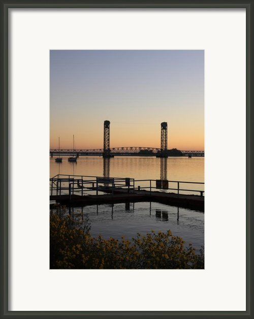 Rio Vista Bridge And Sail Boats Framed Print By Troy Montemayor