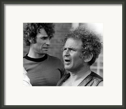 Rip Torn And Writer-director Norman Framed Print By Everett