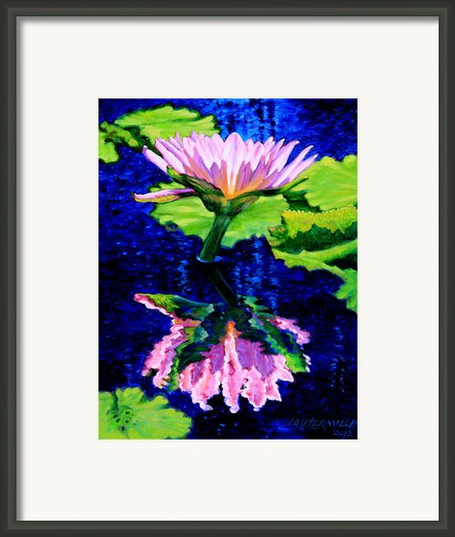 Ripple Reflections Of Beauty Framed Print By John Lautermilch