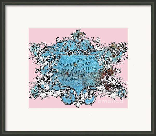 Rise To The Sky Framed Print By Adspice Studios