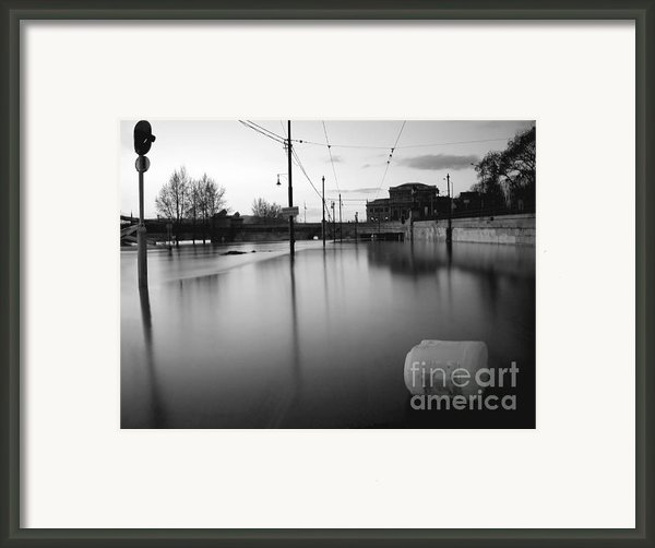 River In Street Framed Print By Odon Czintos