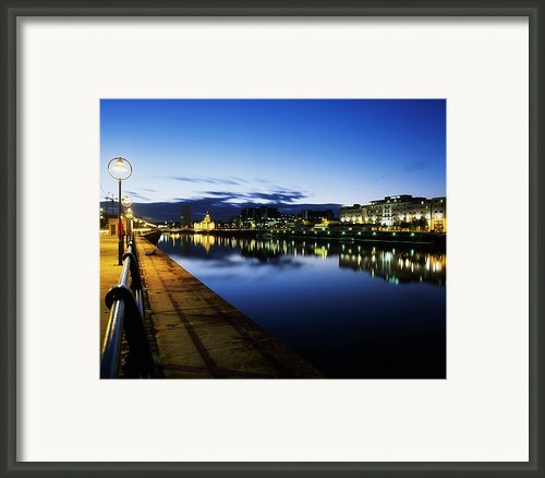 River Liffey, Sunset, View Of Customs Framed Print By The Irish Image Collection