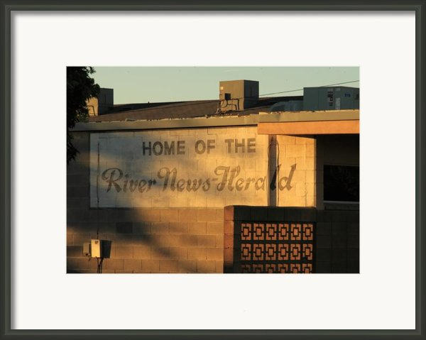 River News-herald Framed Print By Troy Montemayor