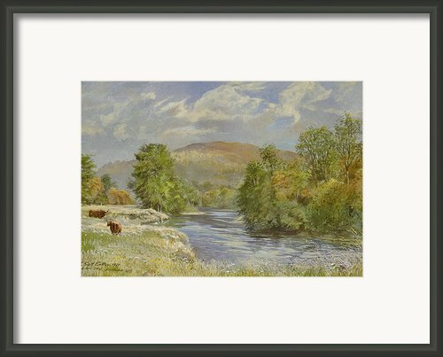 River Spey - Kinrara Framed Print By Tim Scott Bolton