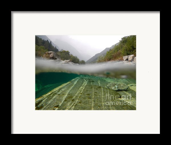 River Surface Framed Print By Mats Silvan