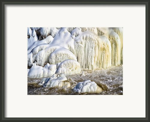 River Wall Of Snow And Ice Framed Print By Bob Orsillo