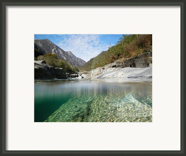 River With A Roman Bridge Framed Print By Mats Silvan
