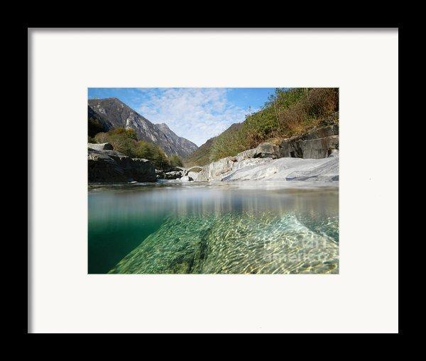 River With A Roman Bridge Framed Print By Mats Silvan
