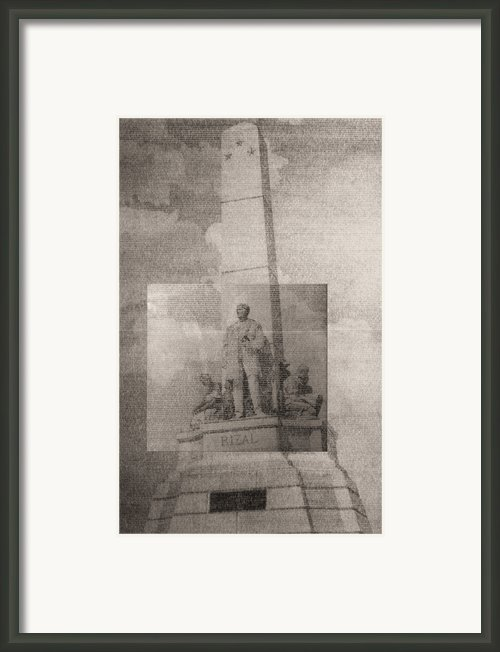 Rizal-full And Detail 1966-67 Framed Print By Glenn Bautista
