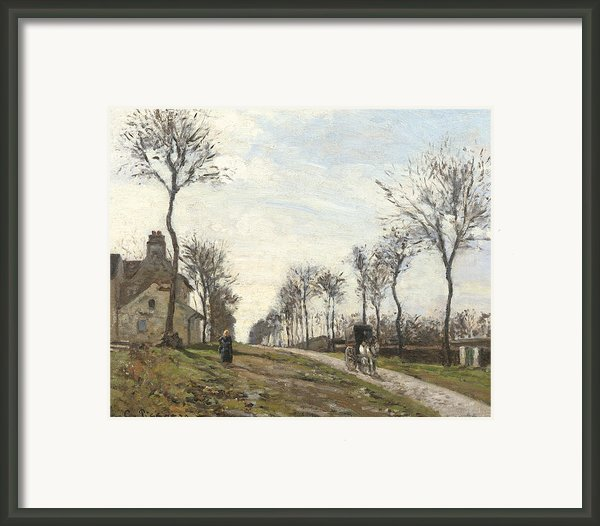 Road In Louveciennes Framed Print By Camille Pissarro
