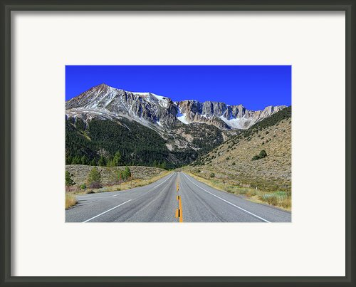 Road Marking On Road Framed Print By David Toussaint - Photographersnature.com