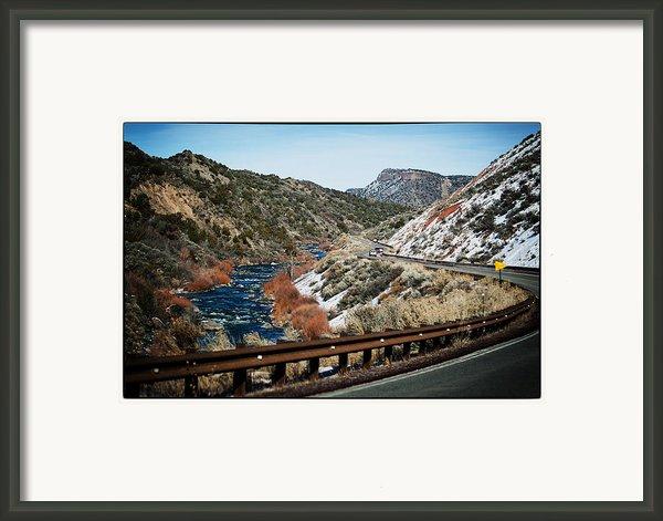Road To Taos Village 1 Framed Print By Lisa  Spencer