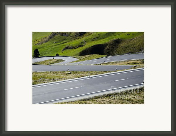 Road With Curves Framed Print By Mats Silvan