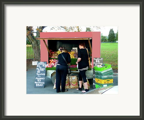 Roadside Fruit And Veg Framed Print By Kenneth William Caleno