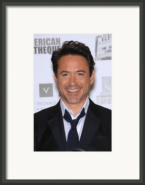 Robert Downey Jr. In Attendance Framed Print By Everett
