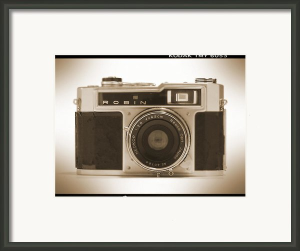 Robin 35mm Rangefinder Camera Framed Print By Mike Mcglothlen