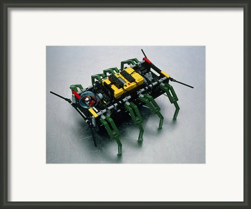 Robot Spider Constructed From Lego Framed Print By Volker Steger