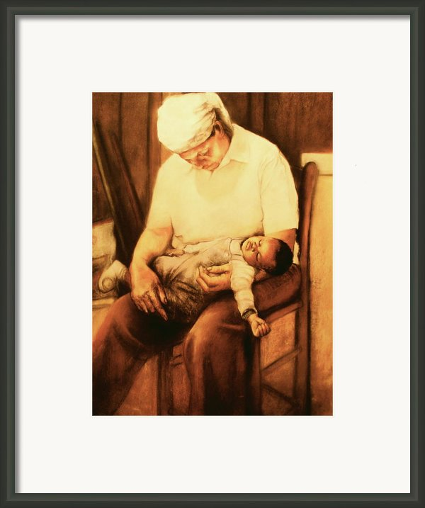 Rock-a-bye Grandma Framed Print By Curtis James