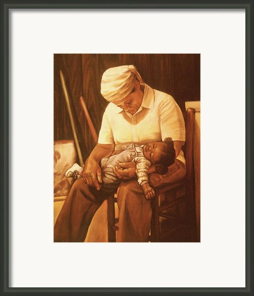 Rock-a-bye Grandma I Framed Print By Curtis James