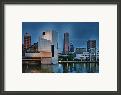 Rock And Roll Hall Of Fame And Museum Framed Print By Richard Gregurich