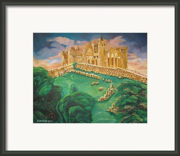 Rock Of Cashel-ireland Framed Print By John Keaton