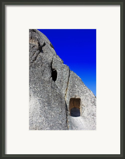 Rock Window Framed Print By Angela Siener