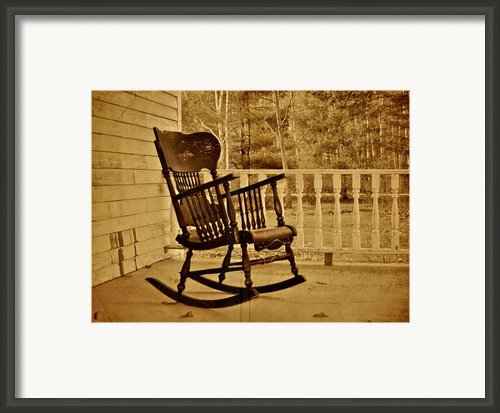 Rocker Framed Print By Odd Jeppesen