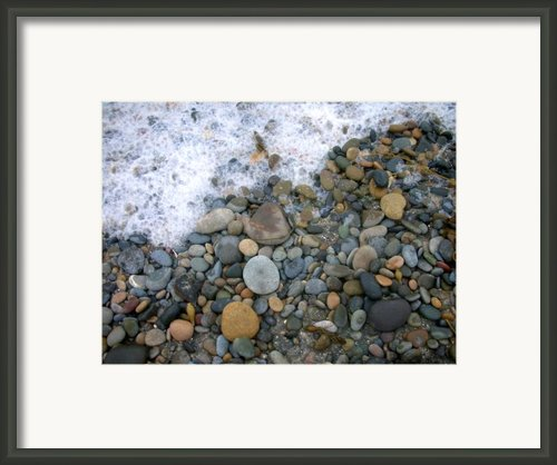 Rocks And Pebbles Framed Print By Stephanie Troxell