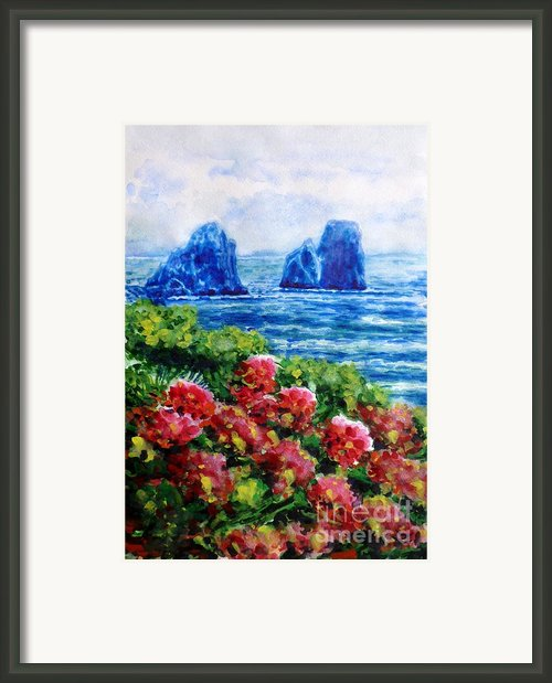 Rocks Of Capri Framed Print By Zaira Dzhaubaeva