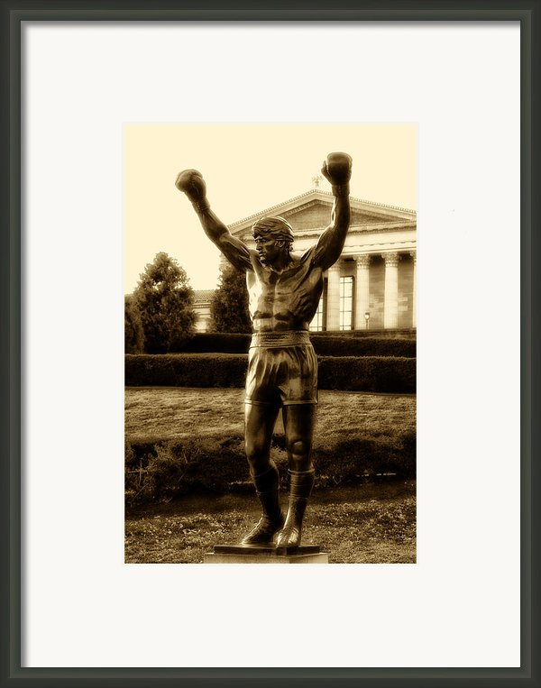 Rocky - Heart Of A Champion  Framed Print By Bill Cannon