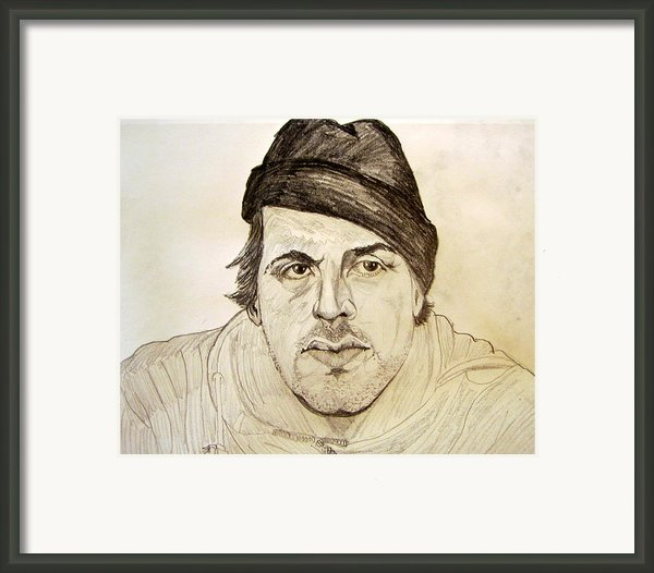 Rocky Balboa Sylvester Stallone Framed Print By Donald William