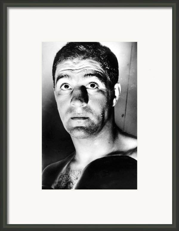 Rocky Marciano, 1950s Framed Print By Everett
