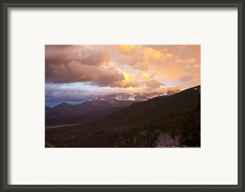 Rocky Mountain Sunset Framed Print By Charles Warren