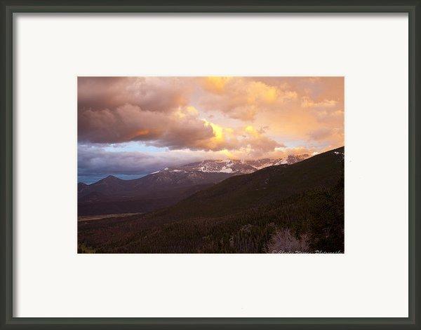 Rocky Mountain Sunset Framed Print By Charles Warren