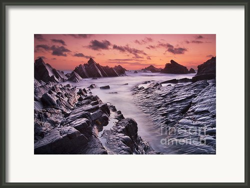 Rocky Shore At Hartland Quay Framed Print By Richard Garvey-williams