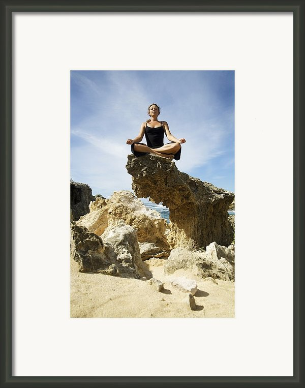 Rocky Yoga Framed Print By Kicka Witte - Printscapes
