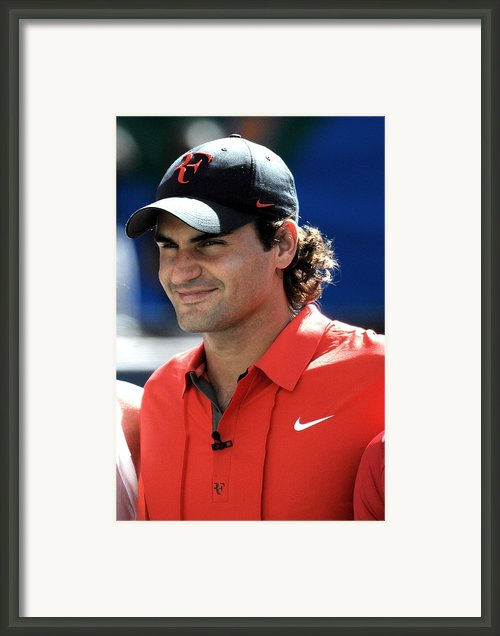 Roger Federer In Attendance For Arthur Framed Print By Everett