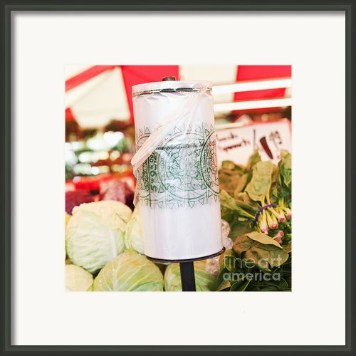 Roll Of Plastic Produce Bags In A Market Framed Print By Jetta Productions, Inc