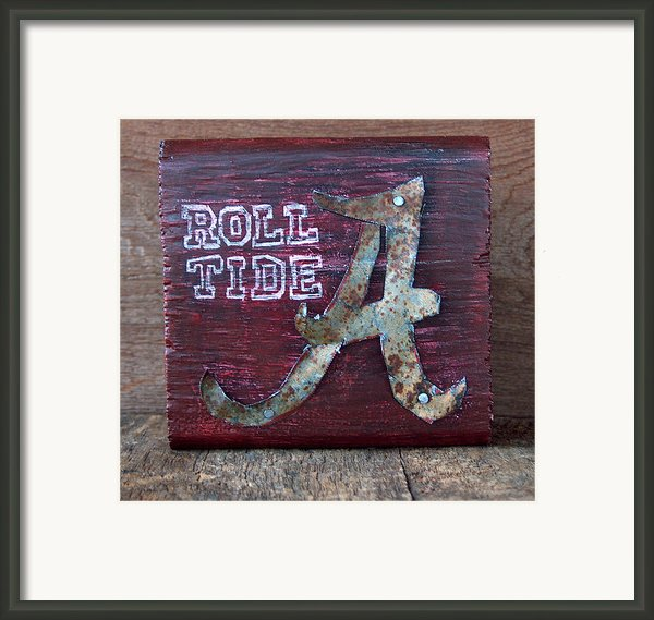 Roll Tide - Small Framed Print By Racquel Morgan