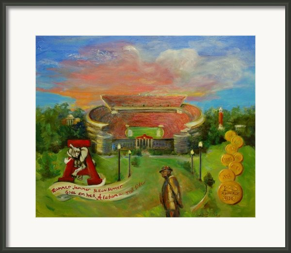 Roll Tide Framed Print By Ann Bailey