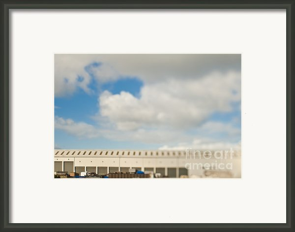 Rolling Doors Of A Warehouse Framed Print By Eddy Joaquim