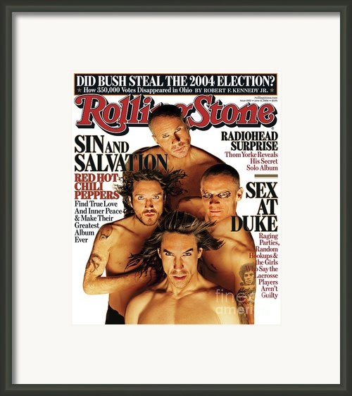 Rolling Stone Cover - Volume #1002 - 6/15/2006 - Red Hot Chili Peppers Framed Print By Matthew Rolston
